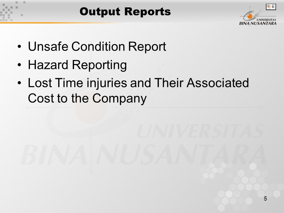 Unsafe Condition Report Hazard Reporting