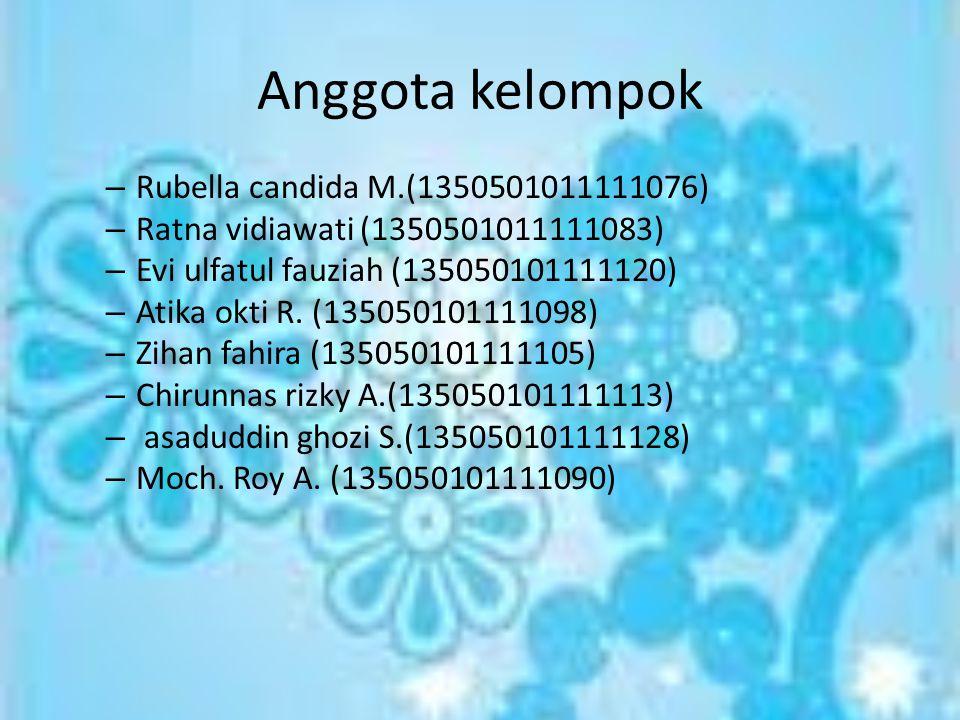 Anggota kelompok Rubella candida M.(1350501011111076)