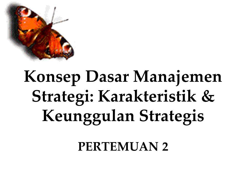 Konsep Dasar Manajemen Strategi: Karakteristik & Keunggulan Strategis