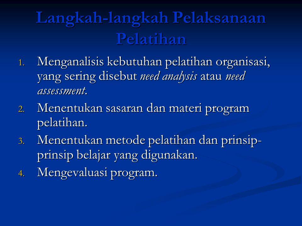 Langkah-langkah Pelaksanaan Pelatihan
