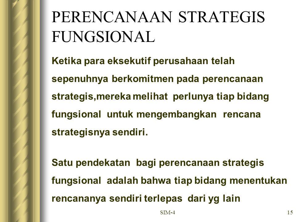 PERENCANAAN STRATEGIS FUNGSIONAL