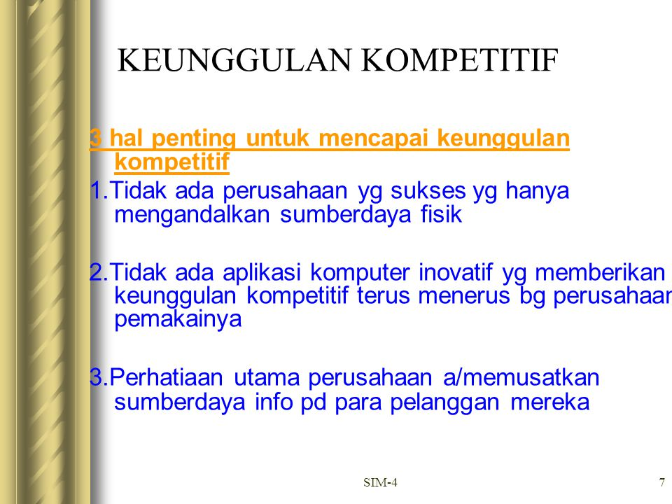 KEUNGGULAN KOMPETITIF