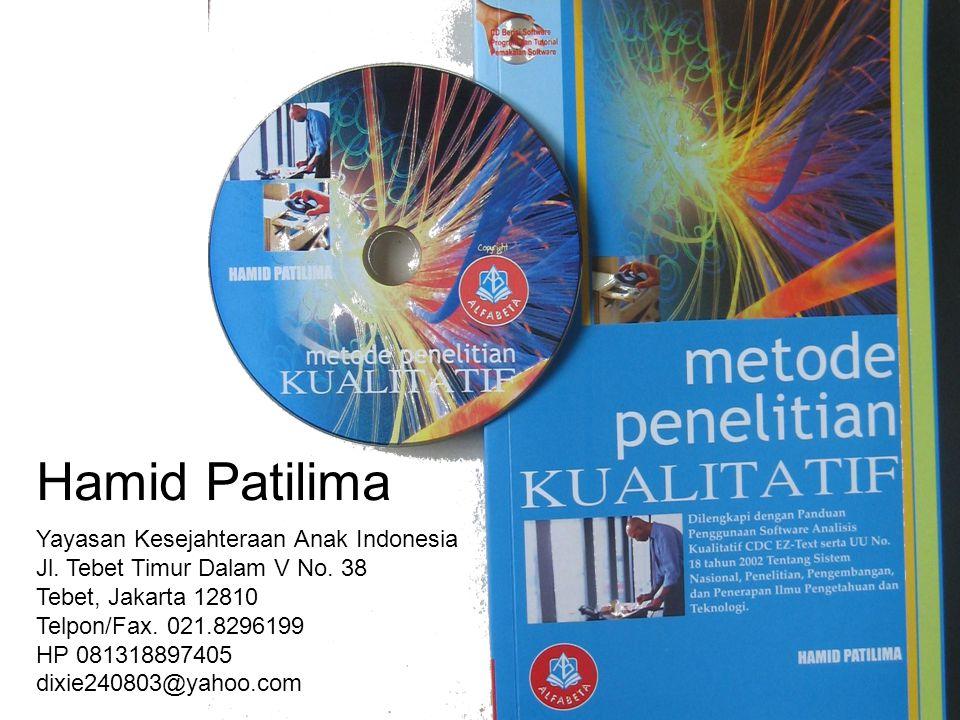 Hamid Patilima Yayasan Kesejahteraan Anak Indonesia