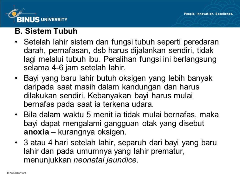 B. Sistem Tubuh