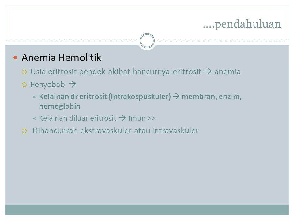 ….pendahuluan Anemia Hemolitik