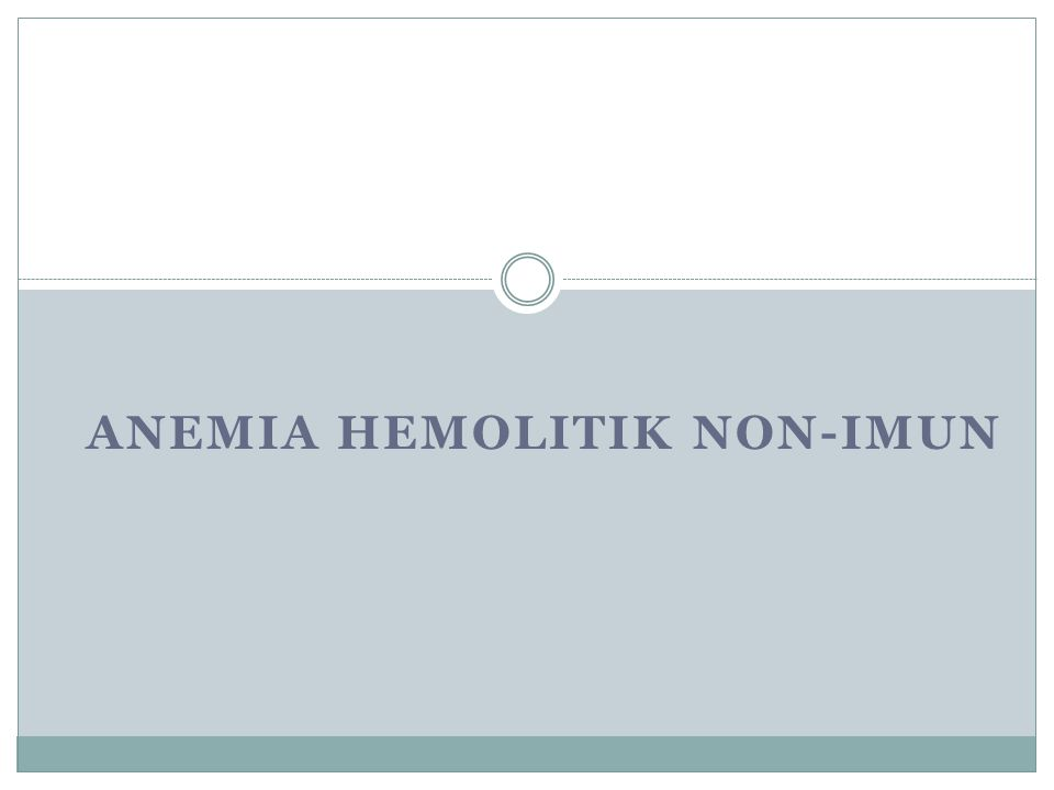 Anemia hemolitik non-imun