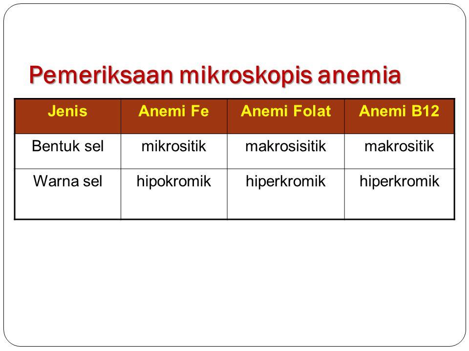 Pemeriksaan mikroskopis anemia