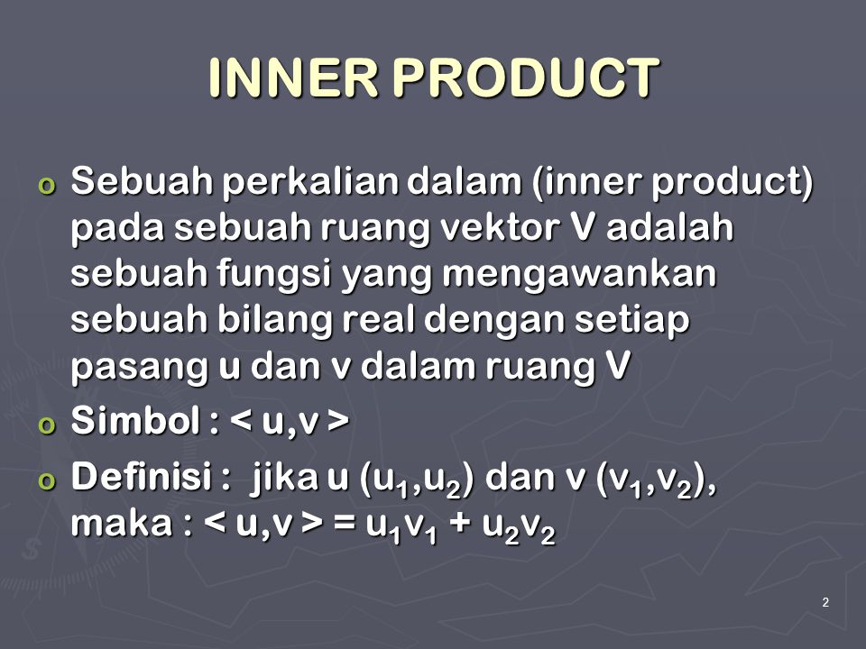 INNER PRODUCT