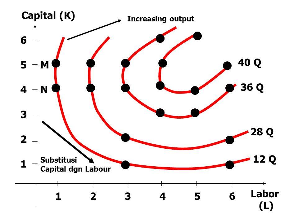 Capital (K) 40 Q 36 Q 28 Q 12 Q Labor (L)