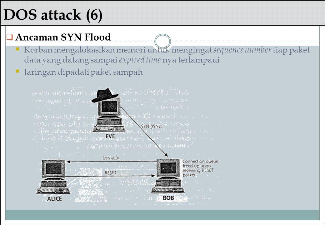 DOS attack (6) Ancaman SYN Flood