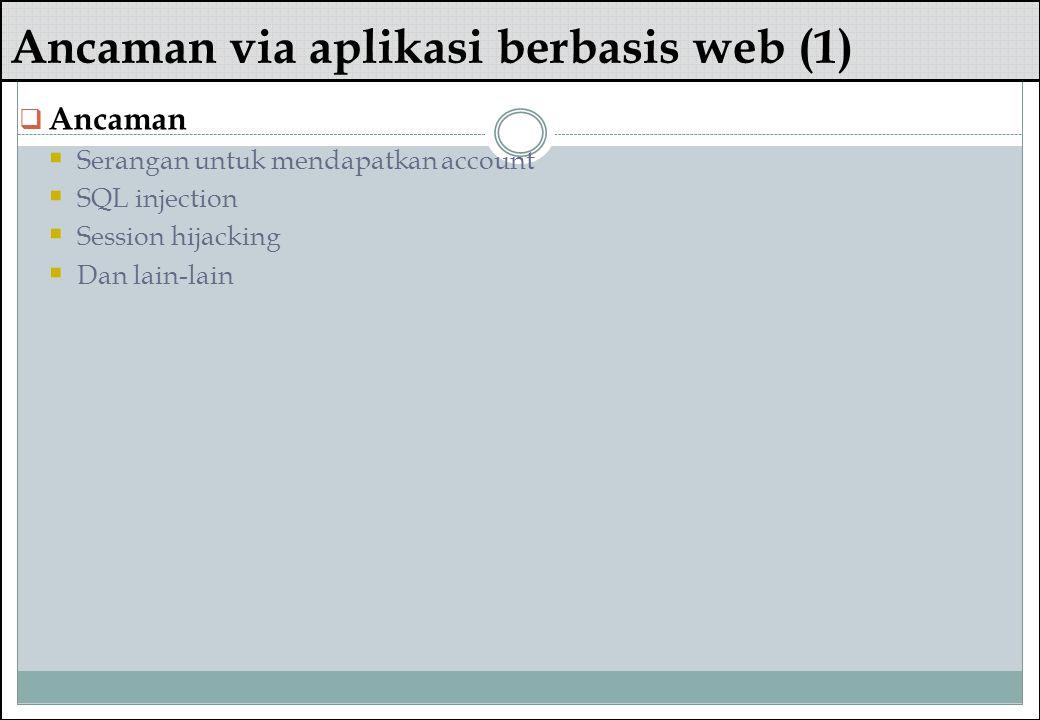 Ancaman via aplikasi berbasis web (1)