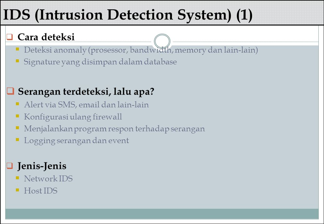IDS (Intrusion Detection System) (1)