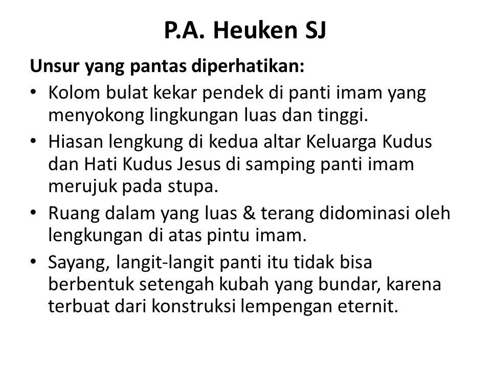 P.A. Heuken SJ Unsur yang pantas diperhatikan: