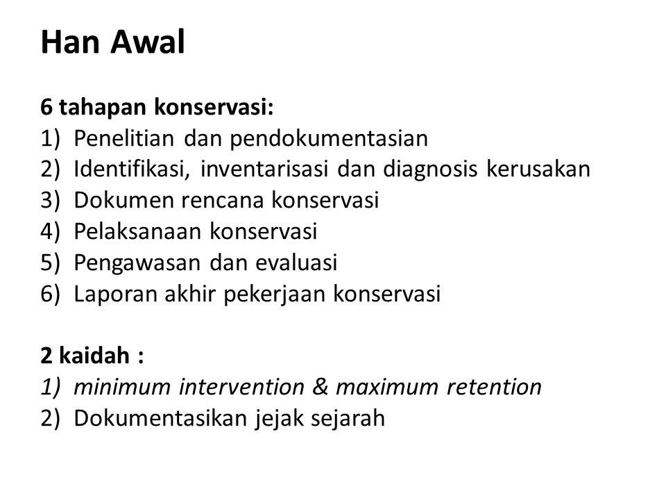 Han Awal 6 tahapan konservasi: Penelitian dan pendokumentasian