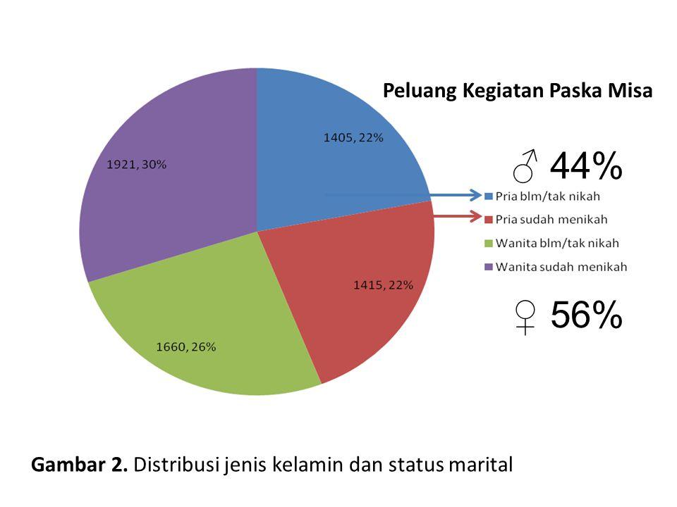 ♂ 44% ♀ 56% Peluang Kegiatan Paska Misa