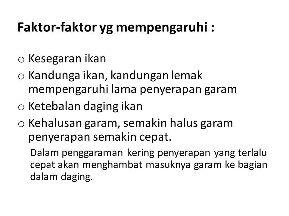 Faktor-faktor yg mempengaruhi :