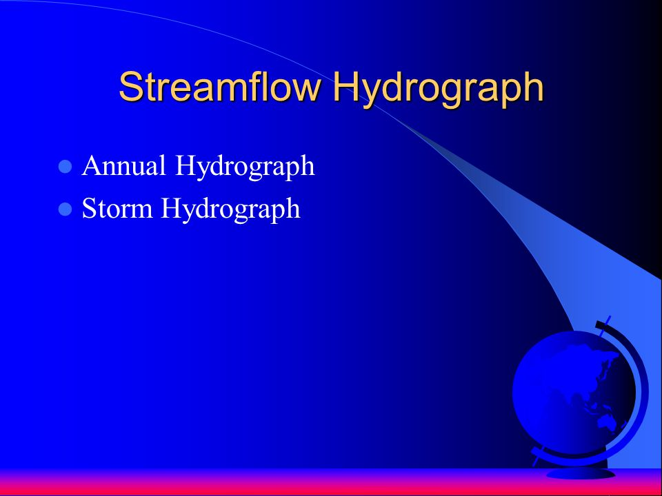 Streamflow Hydrograph