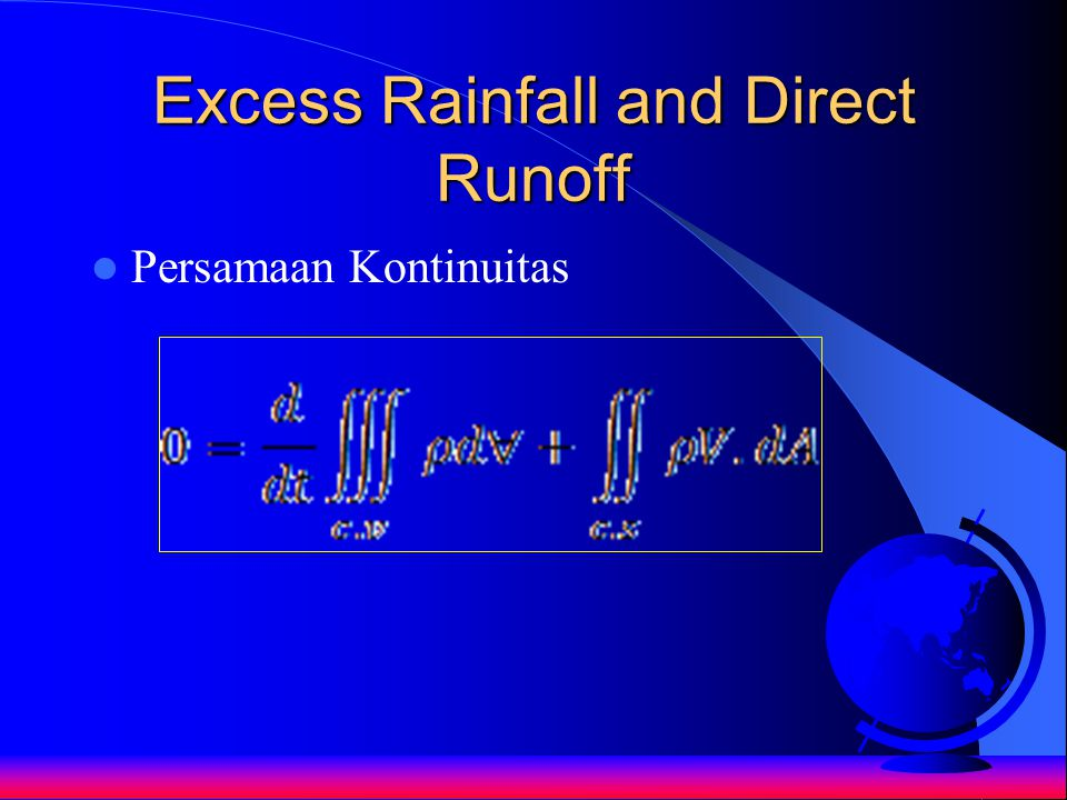 Excess Rainfall and Direct Runoff