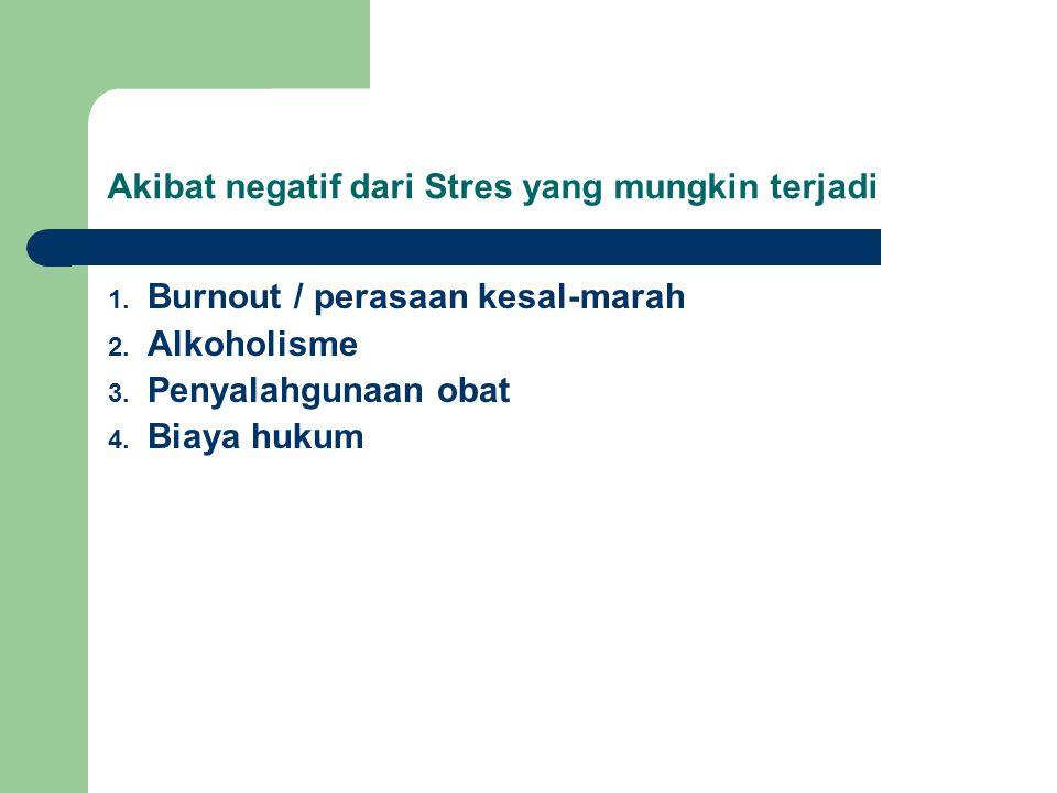Akibat negatif dari Stres yang mungkin terjadi