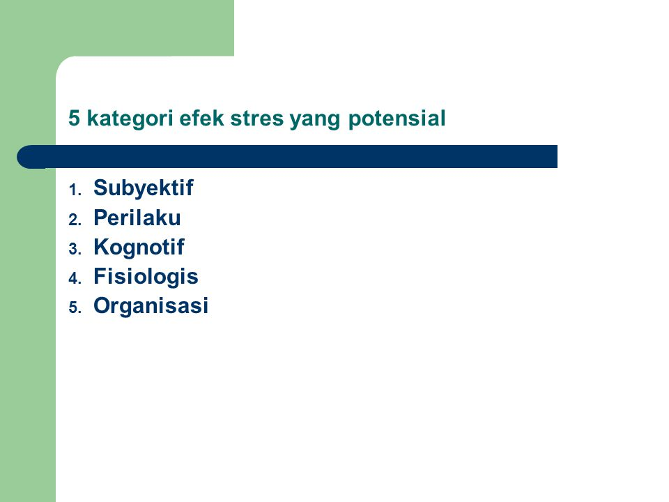 5 kategori efek stres yang potensial