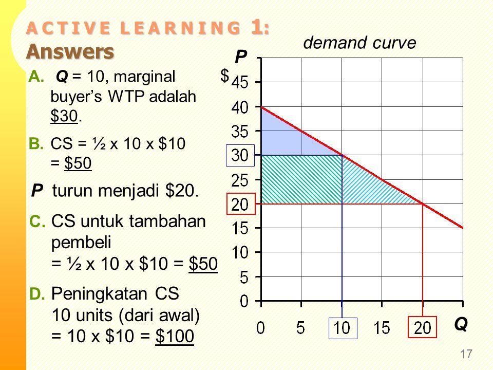 Biaya dan Kurva Supply Cost adalah suatu nilai tertentu yang penjual hadapi untuk menghasilkan barang ( i.e., opportunity cost).