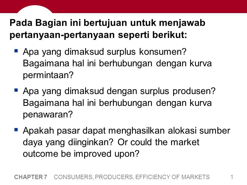 Welfare Economics Mengulang kembali, bahwa alokasi sumber daya mengacu pada: Berapa banyak barang yang dapat dihasilkan.