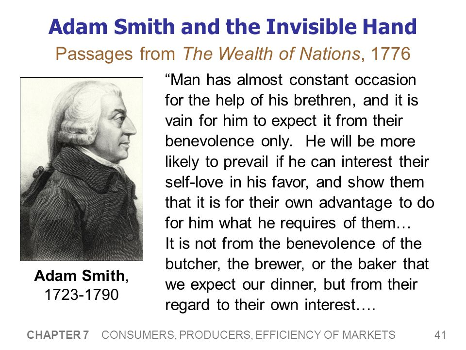 Adam Smith and the Invisible Hand