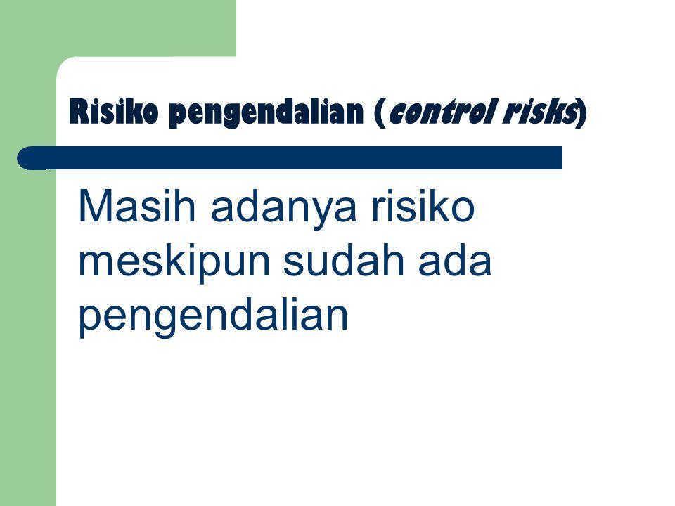 Risiko pengendalian (control risks)