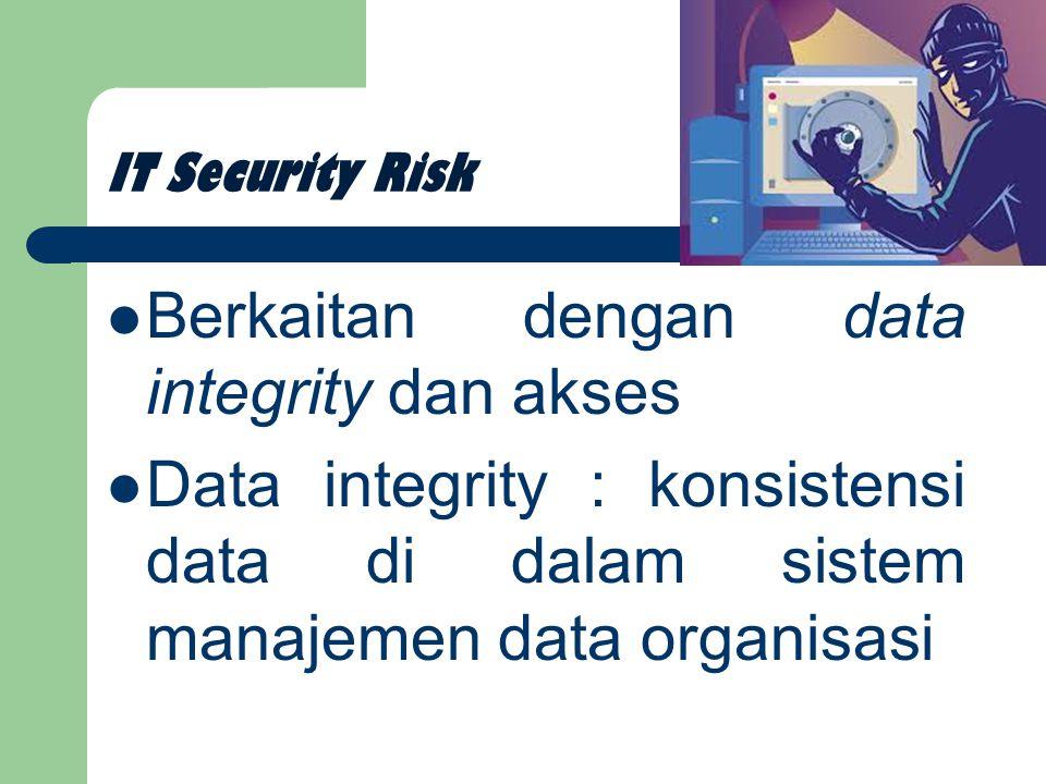 Berkaitan dengan data integrity dan akses