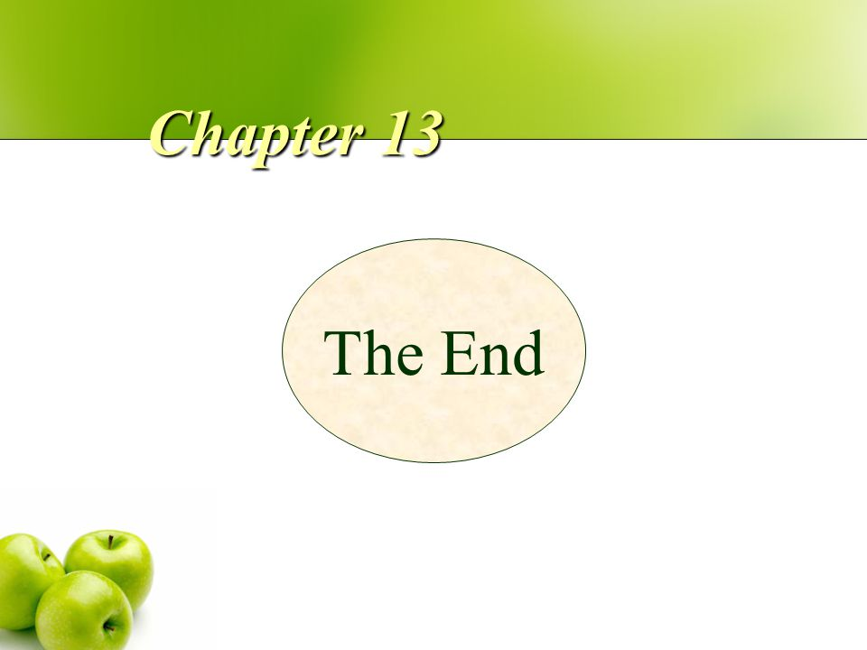 Chapter 13 The End
