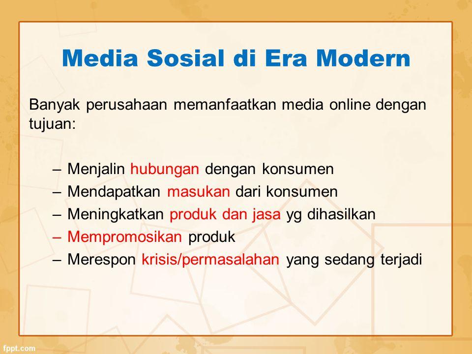 Media Sosial di Era Modern