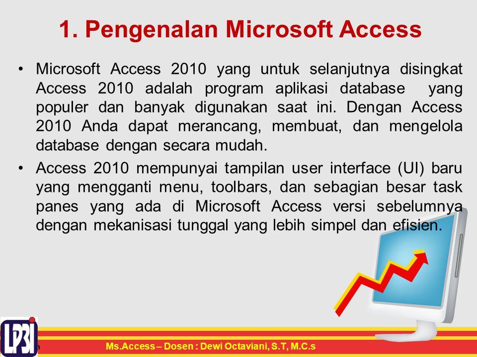 1. Pengenalan Microsoft Access