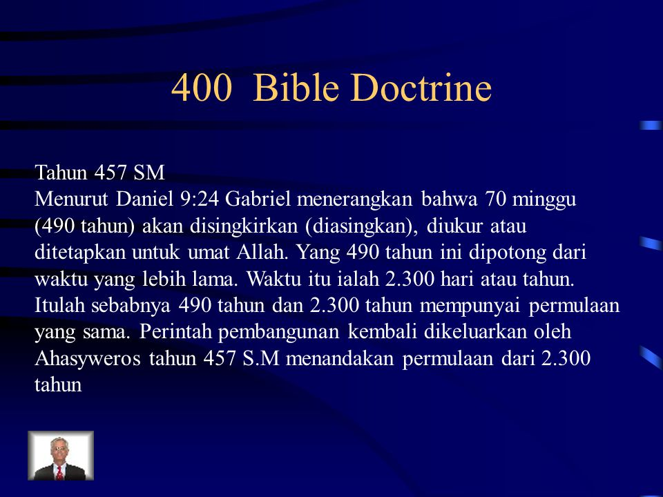 400 Bible Doctrine Tahun 457 SM