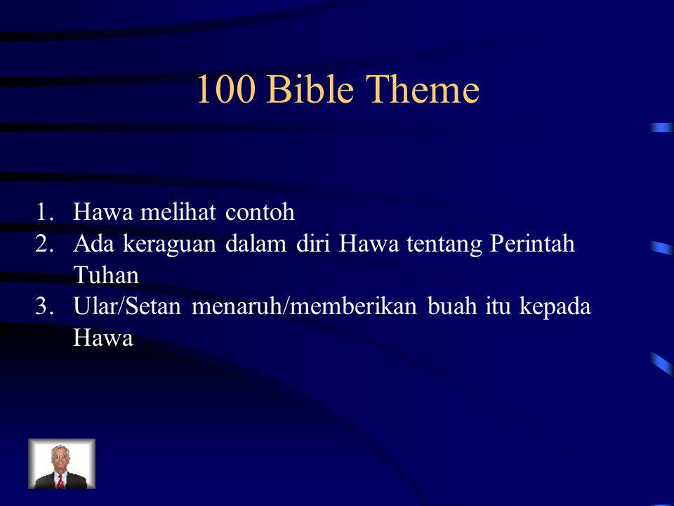 100 Bible Theme Hawa melihat contoh