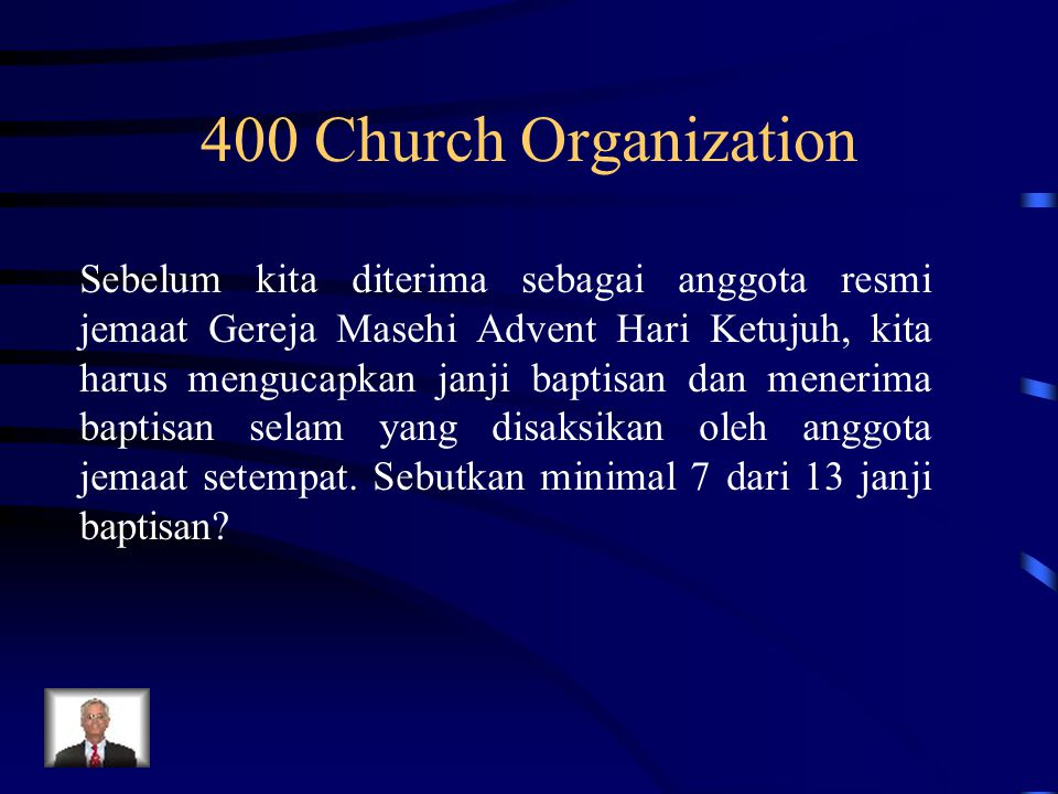 400 Church Organization