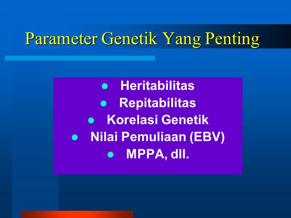 Parameter Genetik Yang Penting