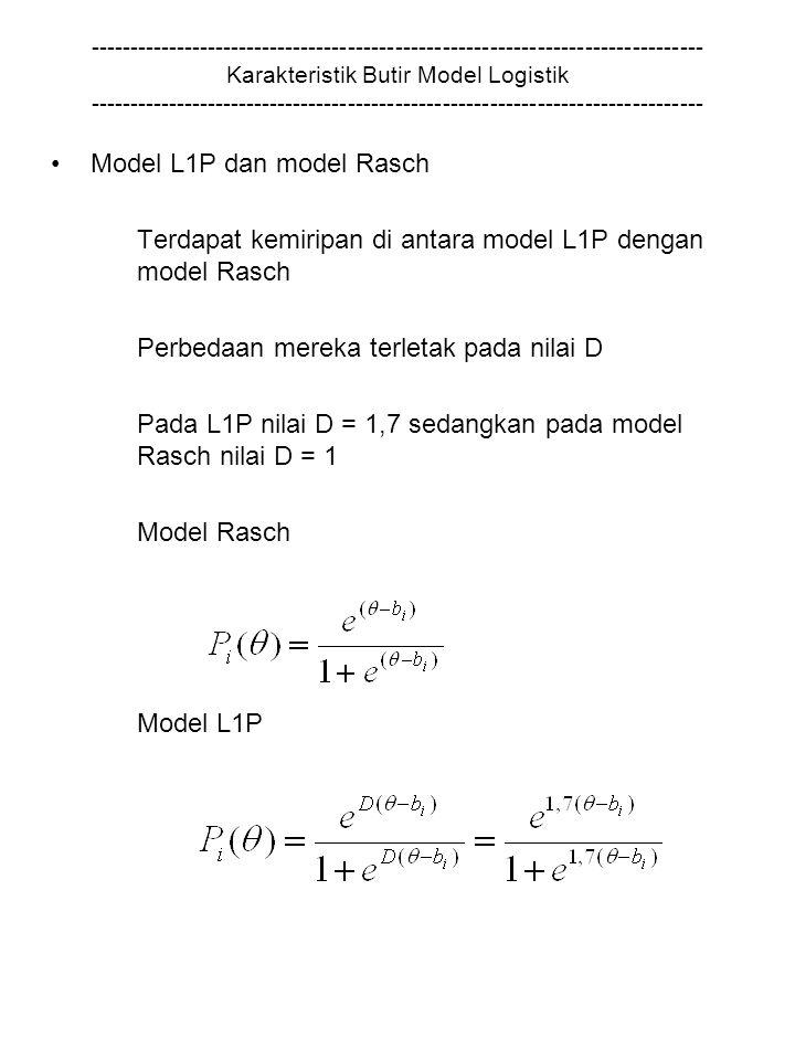 Model L1P dan model Rasch