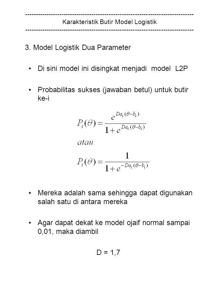 3. Model Logistik Dua Parameter