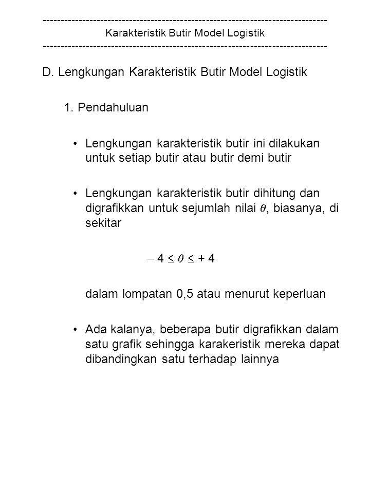 D. Lengkungan Karakteristik Butir Model Logistik 1. Pendahuluan