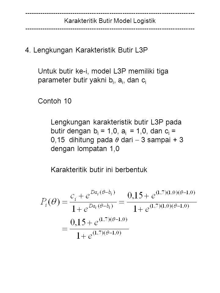 4. Lengkungan Karakteristik Butir L3P