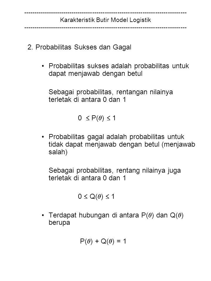 2. Probabilitas Sukses dan Gagal
