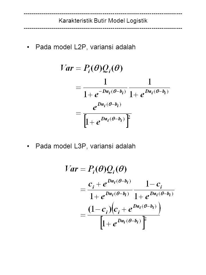 Pada model L2P, variansi adalah