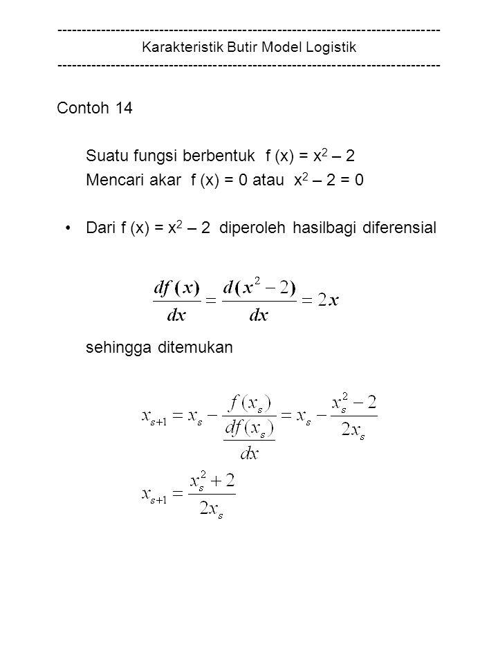 Suatu fungsi berbentuk f (x) = x2 – 2