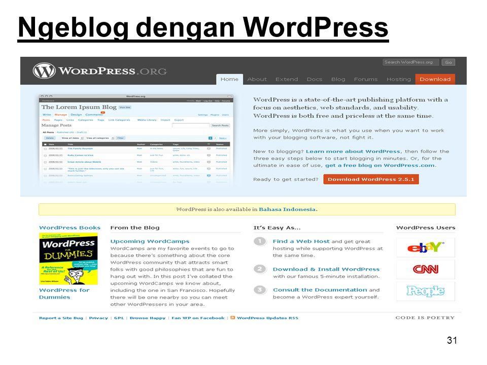 Ngeblog dengan WordPress