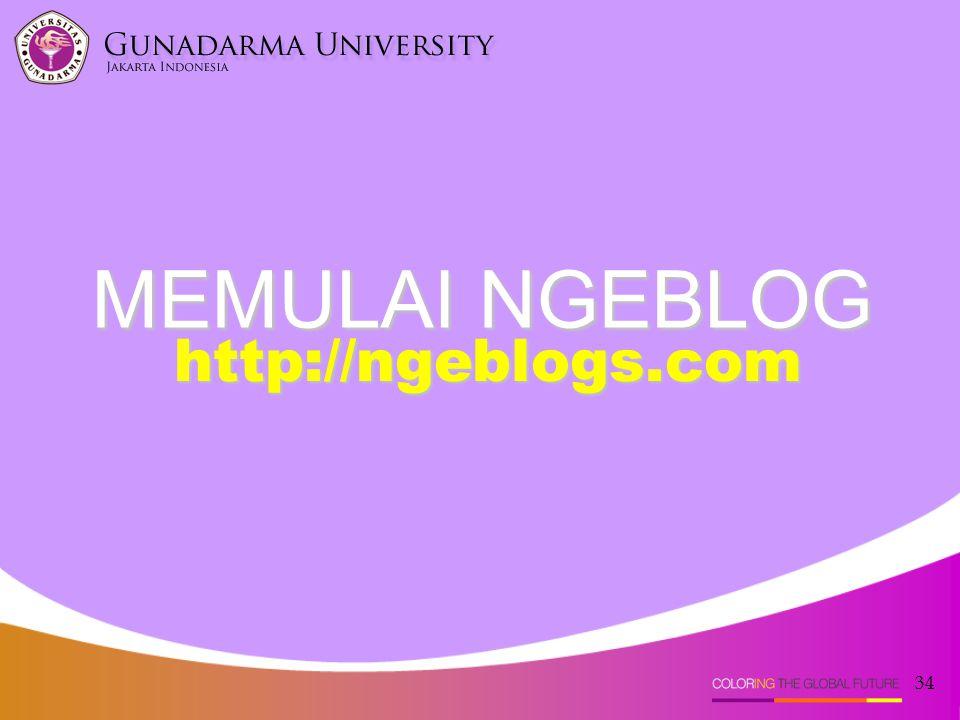 MEMULAI NGEBLOG http://ngeblogs.com