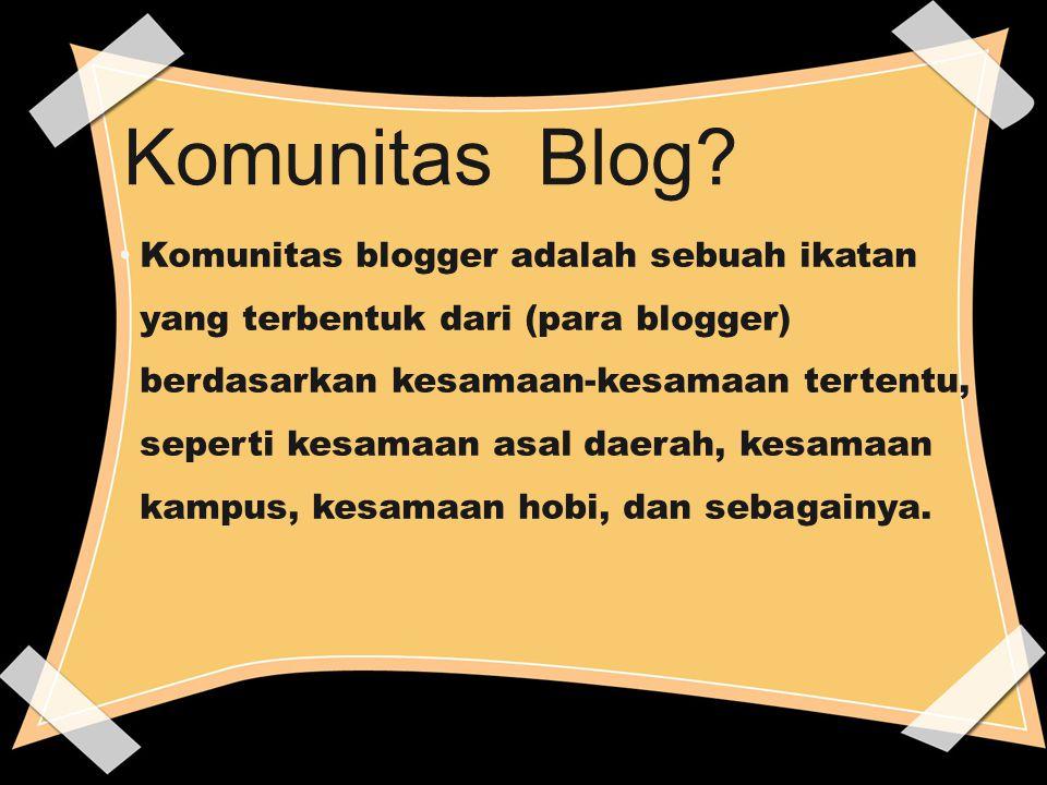 Komunitas Blog