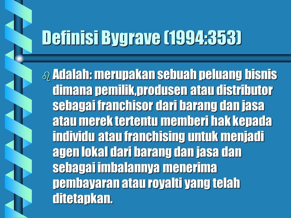 Definisi Bygrave (1994:353)