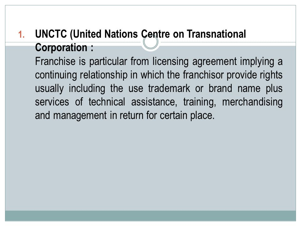 UNCTC (United Nations Centre on Transnational Corporation :