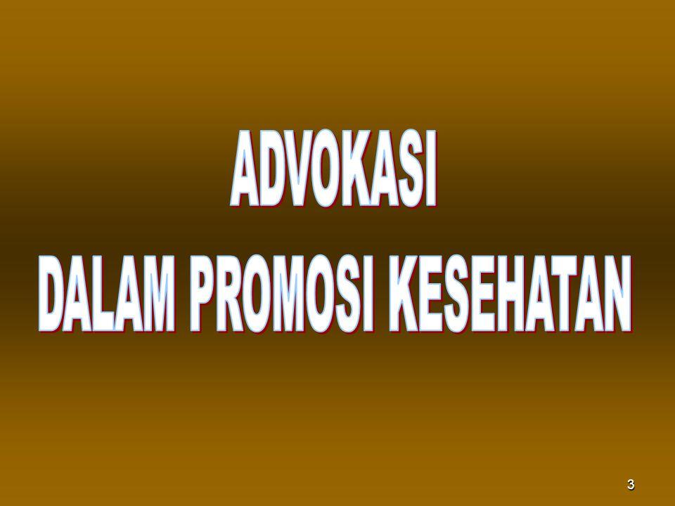 DALAM PROMOSI KESEHATAN