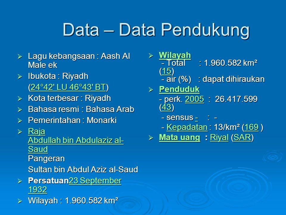 Data – Data Pendukung Lagu kebangsaan : Aash Al Male ek